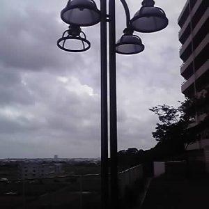 街灯の修復
