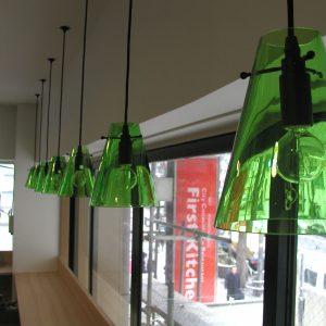 店舗用照明 ガラスシェード部分 w150xd150xh180
