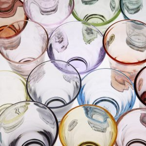 ビレットタンブラー ガラス工芸向けの着色ガラス、サン・グラスカラーを利用したグラス作品群 w75xd75xh115