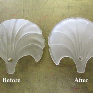 修復一例 削り出し加工:日本の伝統工芸士(江戸切子)高野秀徳